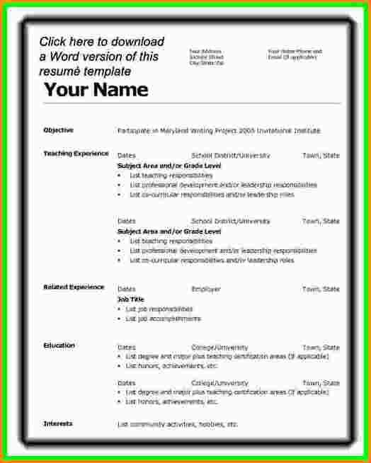 Resume Templates Microsoft Word 2007. Resume In Word 2007 Resume ...