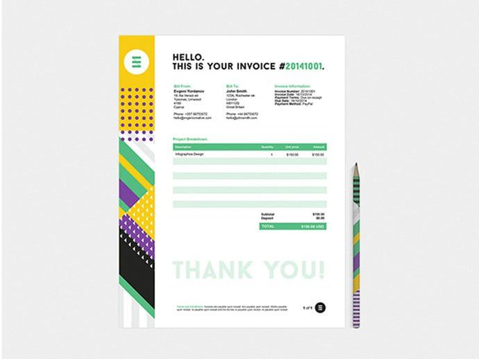 35 Striking Invoice Designs | Web & Graphic Design | Bashooka