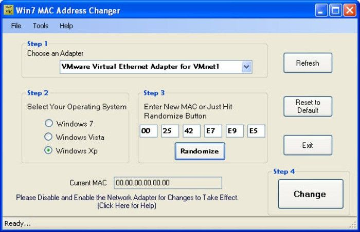 Win 7 MAC Address Changer - Download