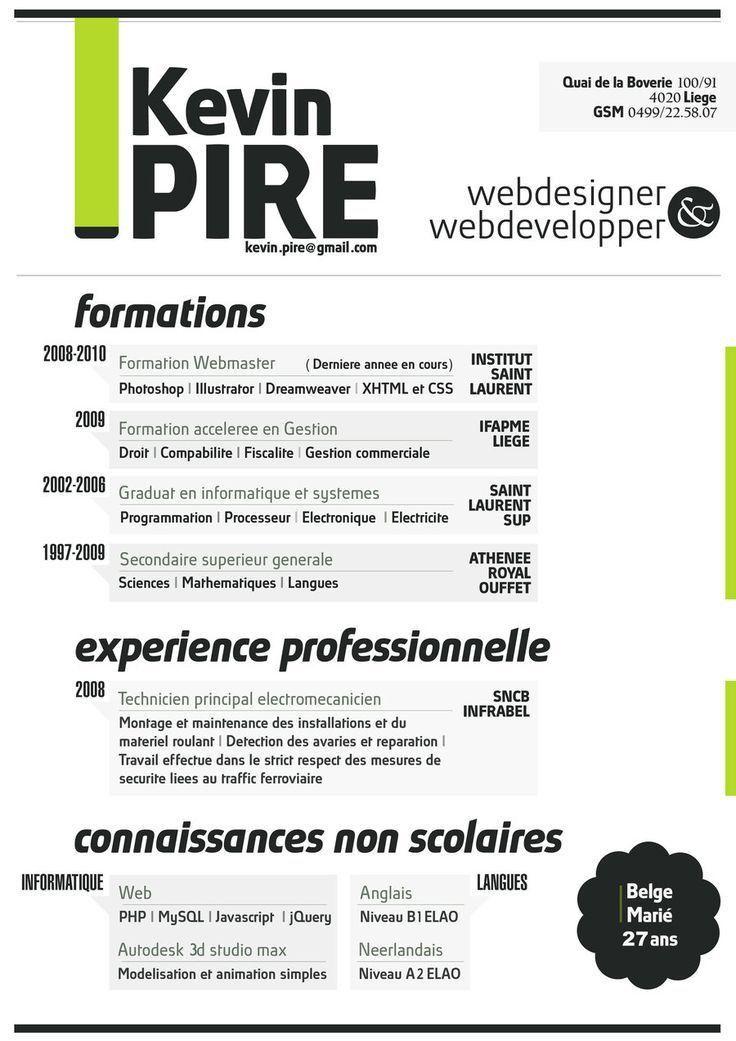 Top 25+ best Web designer resume ideas on Pinterest | Portfolio ...