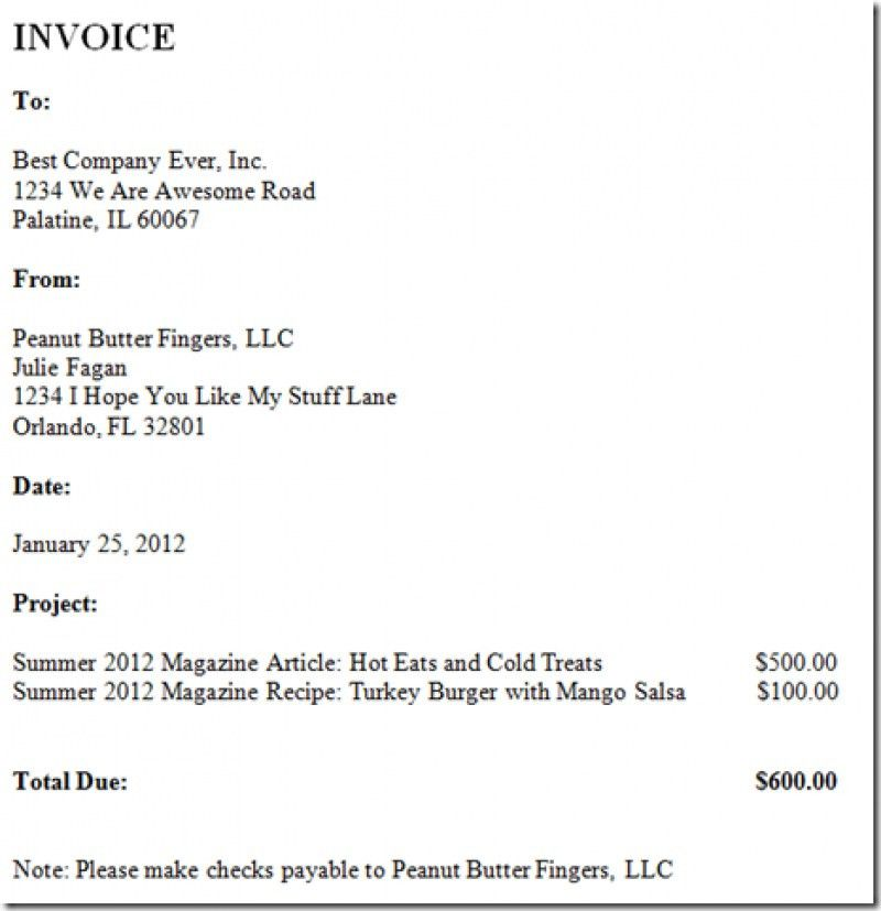 Download How to Write Up an Invoice for Freelance Work | rabitah.net