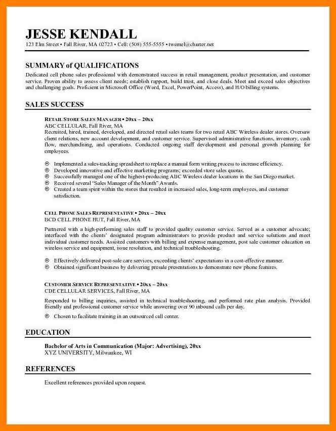 example of resume summary examples of resume summary resume