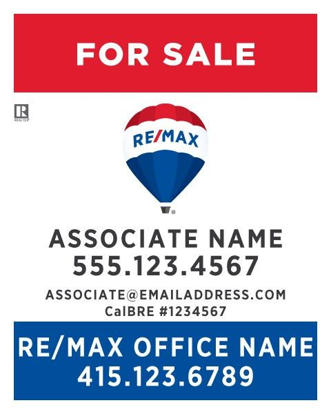 Printing Connection · RE/MAX For Sale Signs