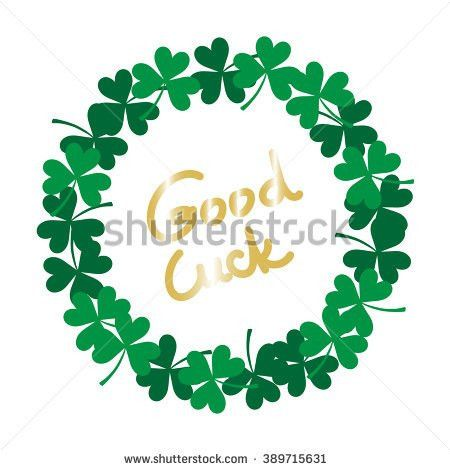 Unique St Patricks Day Card Clover Stock Vector 389026363 ...