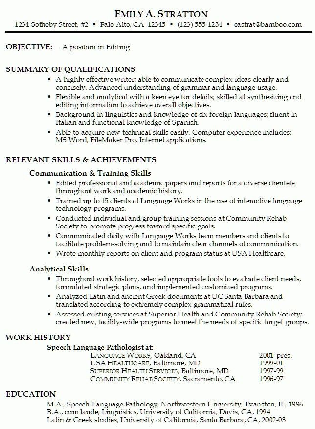 Analytical Skills Resume | The Best Resume