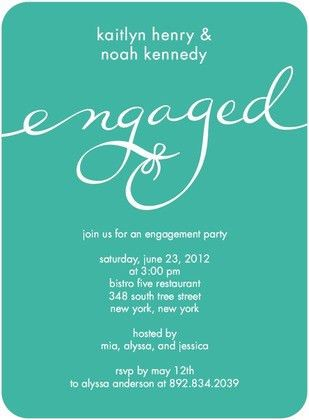 Engagement Party Invitation Wording - reduxsquad.Com