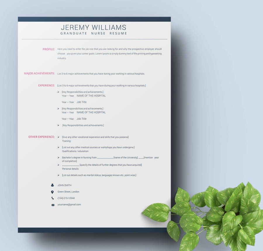 42+ Free Resume Templates - Fresher, Nurse, Teacher, Sales | Free ...
