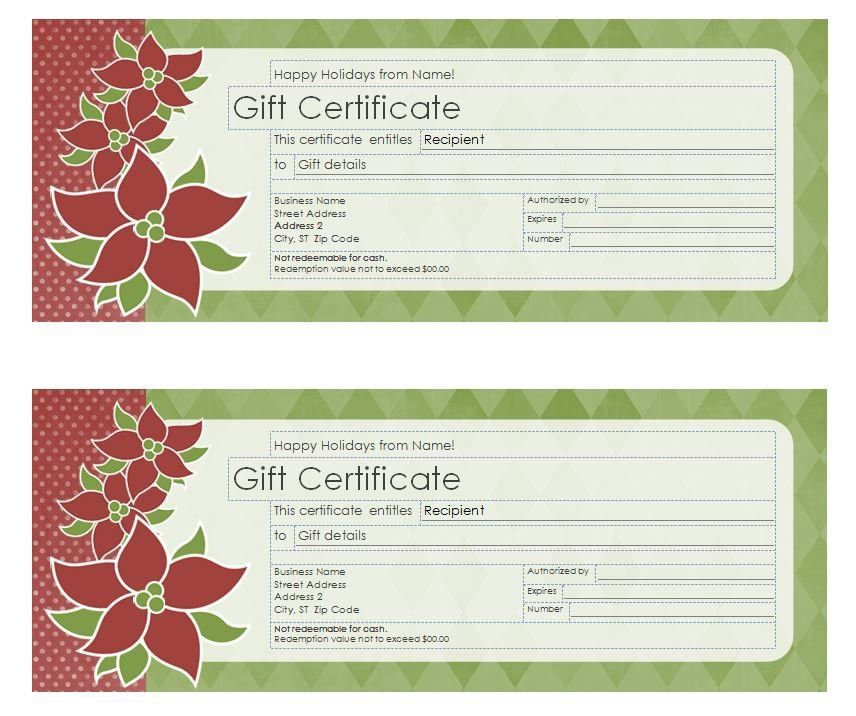 Xmas Gift Certificate Template. santa messages christmas gift ...