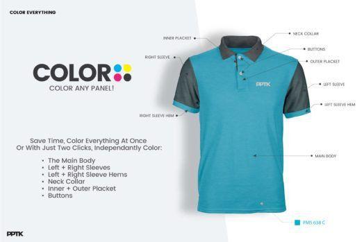 Photorealistic Custom Polo Shirt Template PSD