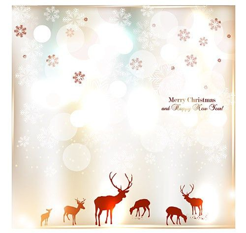 Merry Christmas And Happy New Year Invitation Vector | Free Vector ...