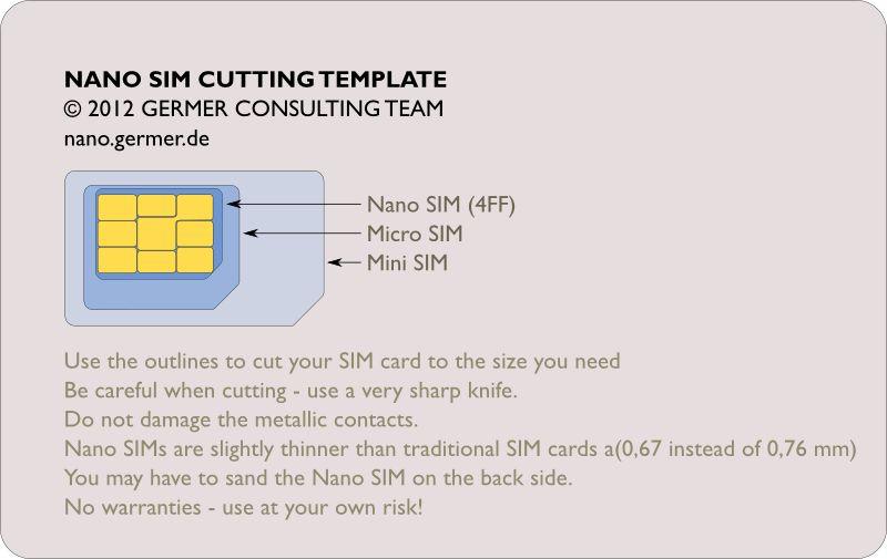 Cut your own Nano SIM | nanosim