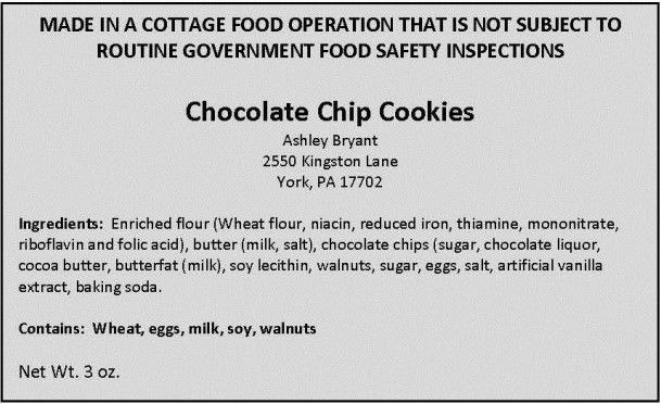 Cottage Food Labeling Resources | BakeCalc