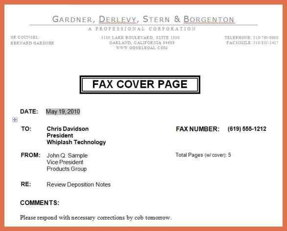 fax cover letter example | bio example