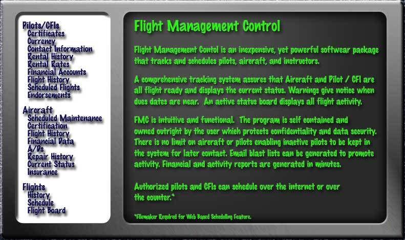 Flight Management Control, Flight Scheduler
