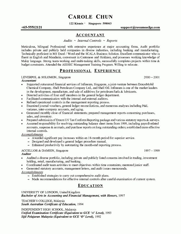 resume of an accountant housekeeper resume example. sample resume ...