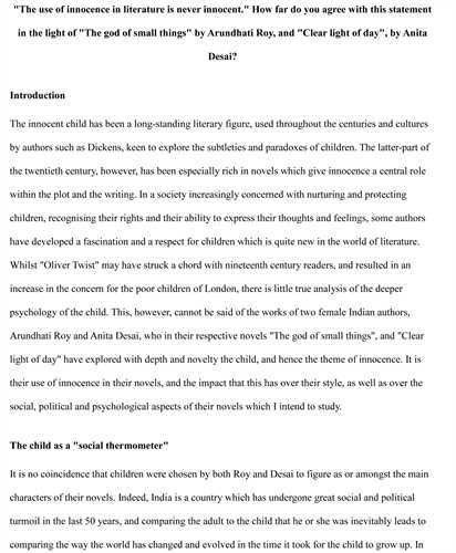 Examples of good introductions for persuasive essays