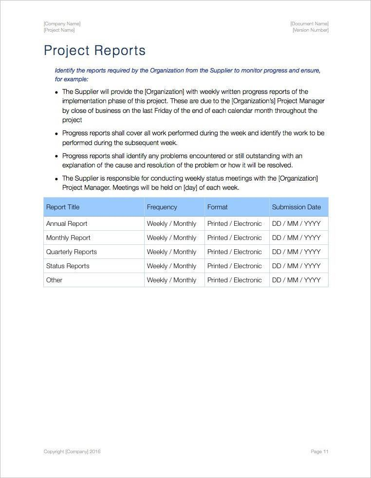 Statement of Work Template (Apple iWork Pages)