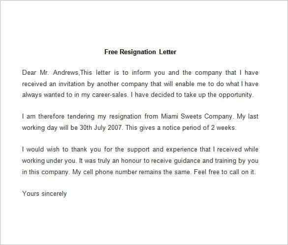 Different Types Resignation Letters. How To #Write A Resignation ...