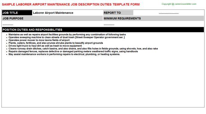 Airport Custodian Job Descriptions