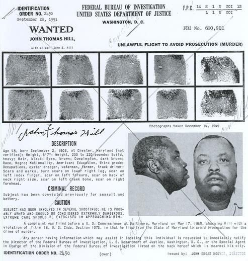 Ten Most Wanted History Pictures — FBI