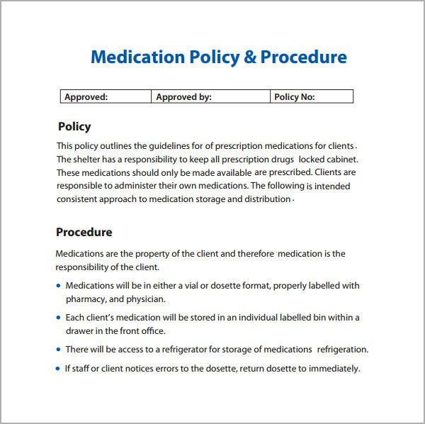 Policies And Procedures Template | cyberuse