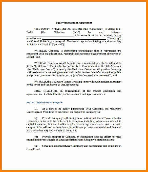 11+ investment contract template   budget template