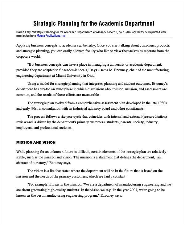46+ Examples of Strategic Plans