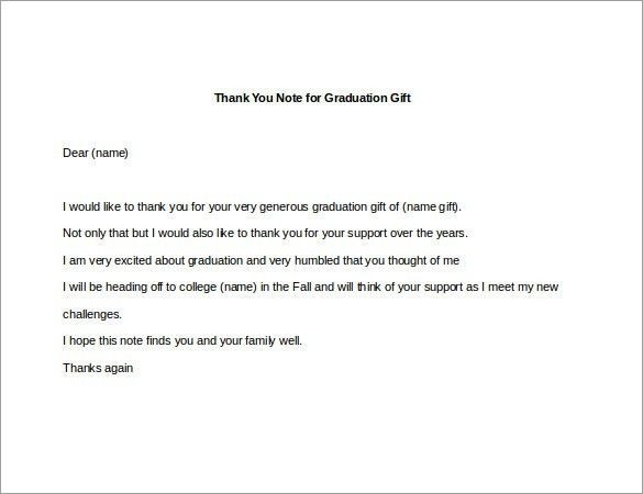 8+ Thank You Note For Gift – 8+ Free Sample, Example, Format ...