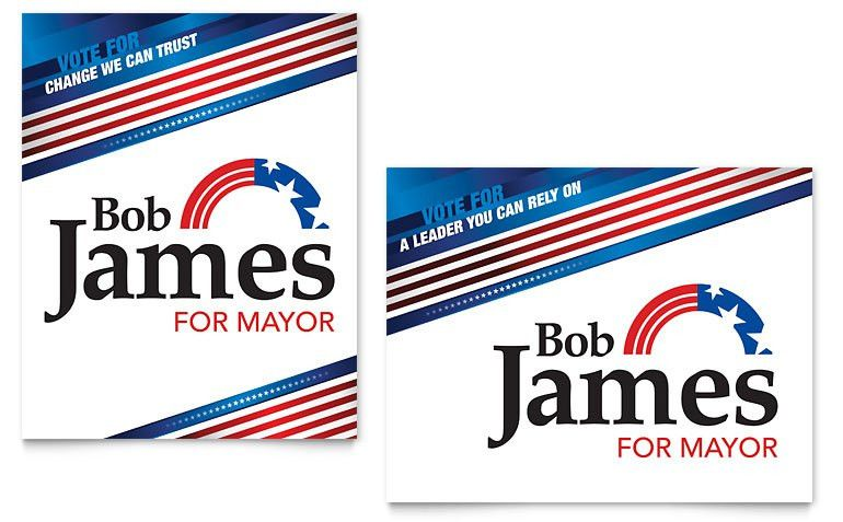 Political Campaign Poster Template - Word & Publisher