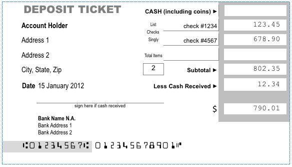 Print a Bank Deposit Ticket with Excel – Paco Hope