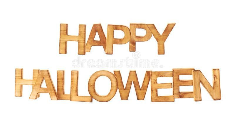 Happy Halloween Made Of Block Letters Stock Photo - Image: 48279818