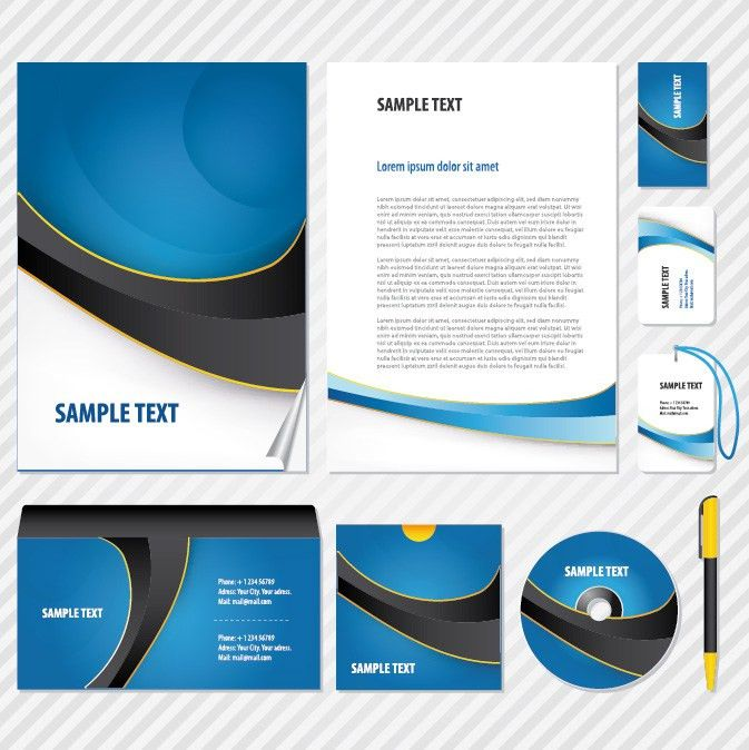 12 sets of basic vi template vector business Free Vector / 4Vector