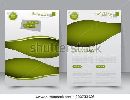 Brochure Design Flyer Template Editable A4 Stock Vector 409236133 ...