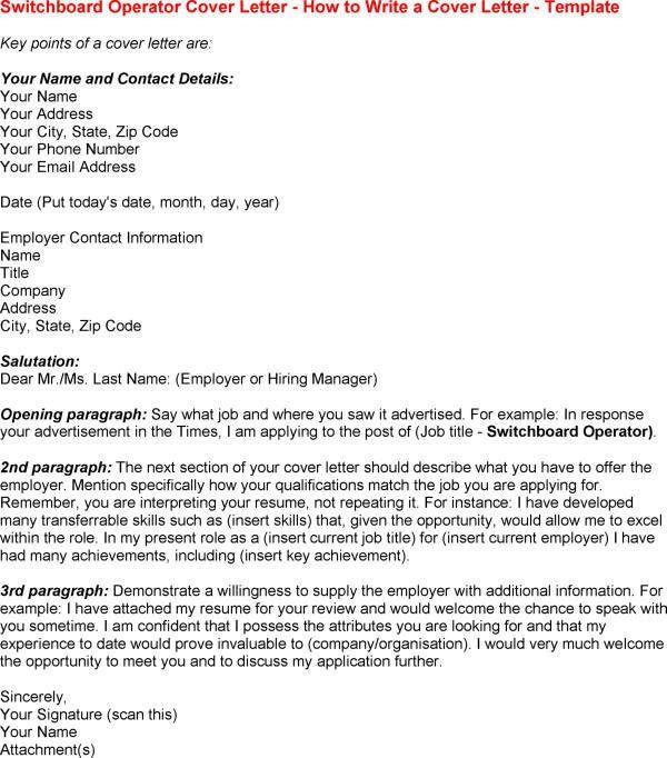 Hospital PBX Operator Job Description switchboard operator cover ...