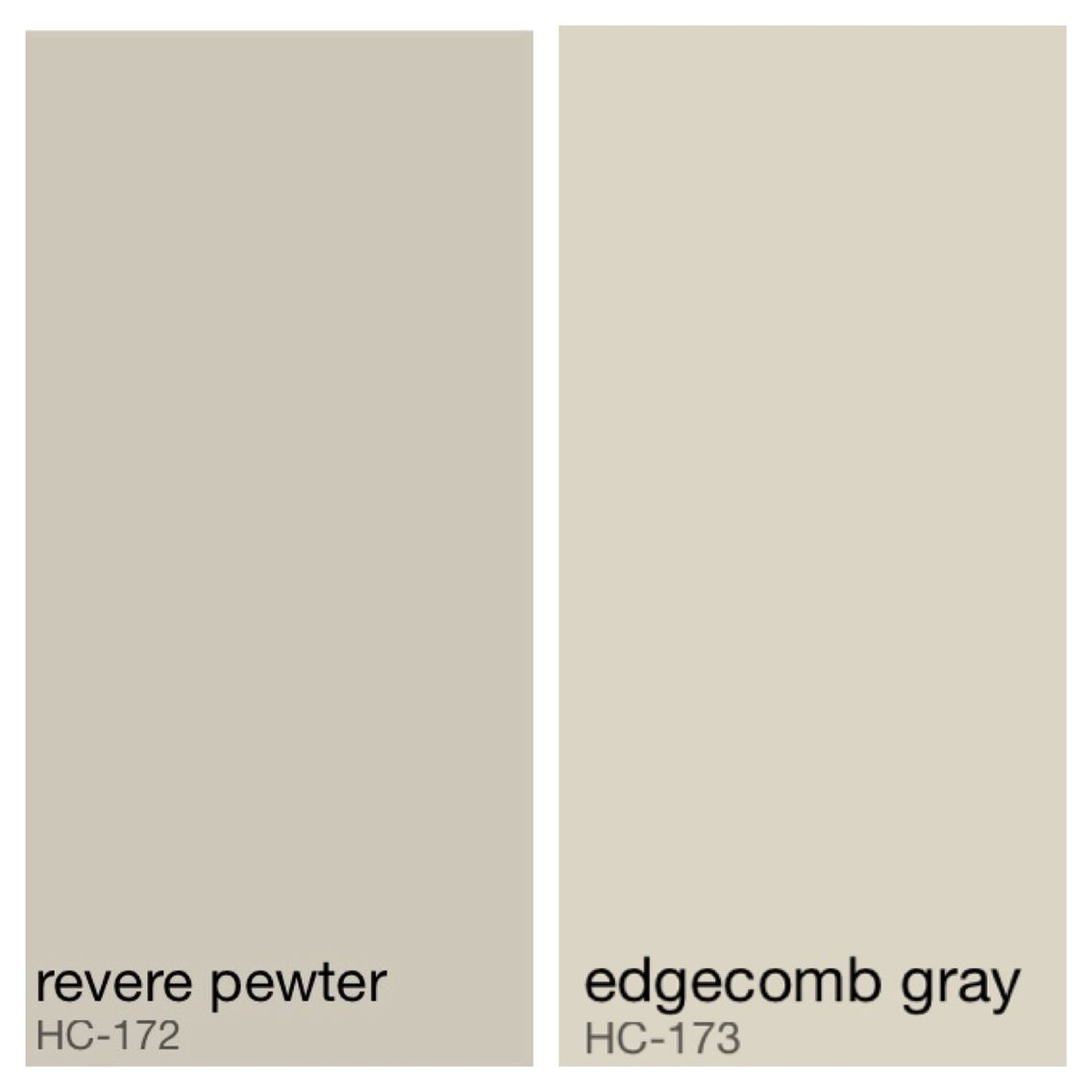 Benjamin Moore MasterBath color - Revere Pewter walls, Edg