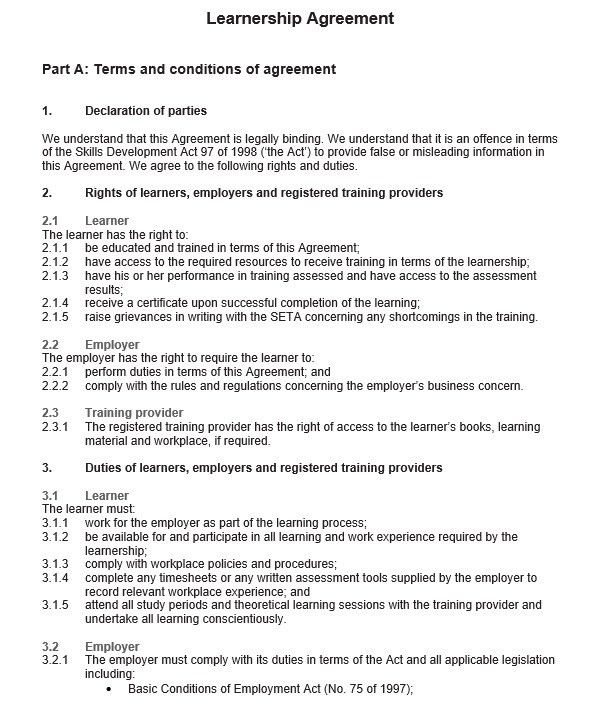 12 Free Sample Legally Binding Agreement Templates – Printable Samples