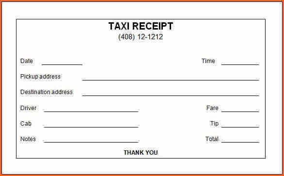 7 taxi receipt - Budget Template Letter