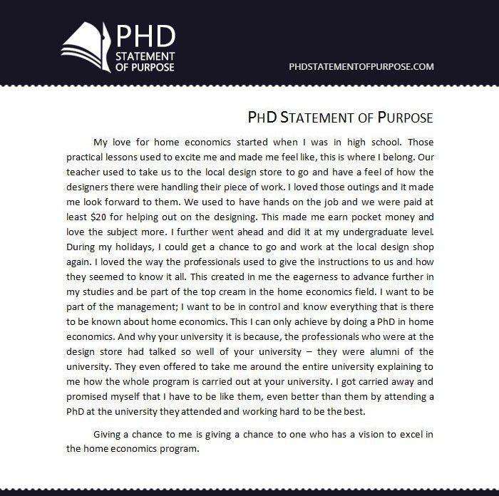 Sample Sop for Phd Free | Phd Statement of Purpose