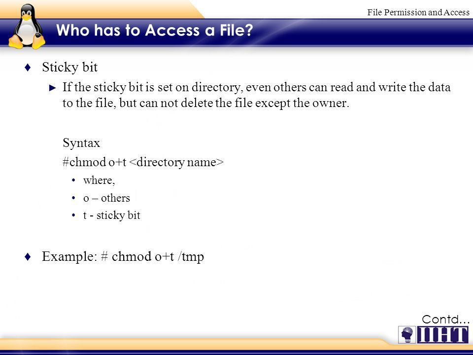 File Permission and Access. Module 6 File Permission and Access ...