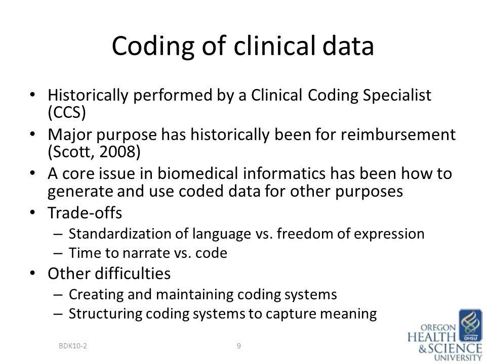 Sources and Types of Clinical Data BDK10-2 Secondary Use (Re-Use ...