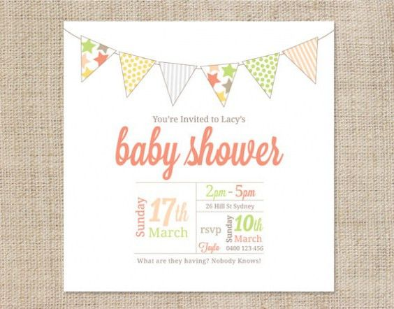 Top 14 Free Baby Shower Invite Template Which Viral In 2017 ...