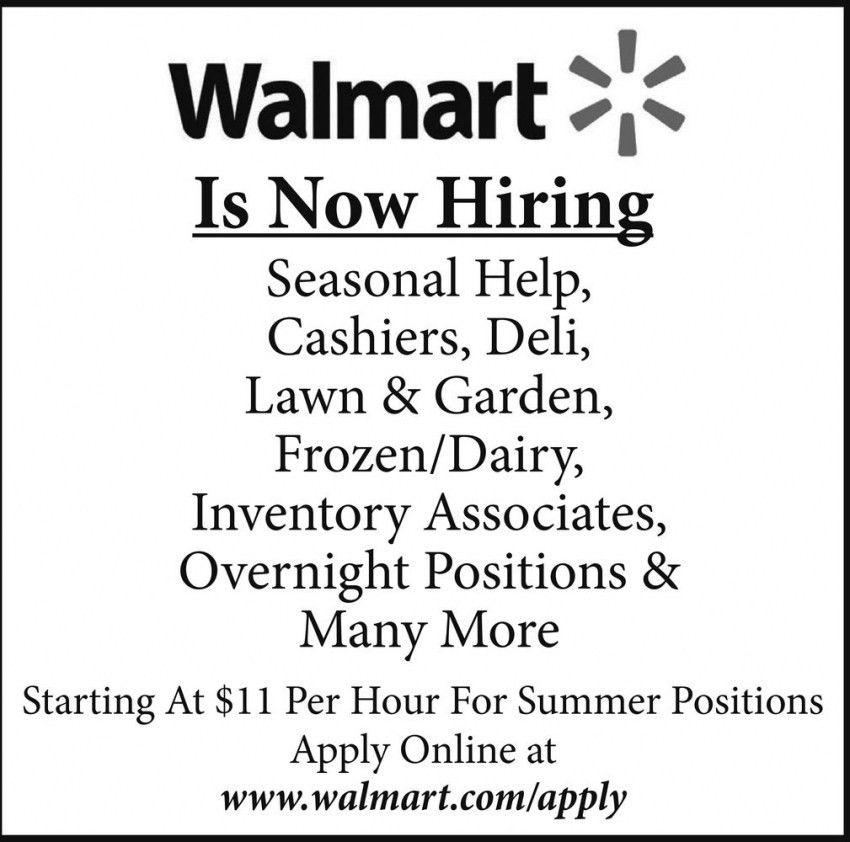 Walmart - Hayward | Is Now Hiring | Employment Ads from Sawyer ...