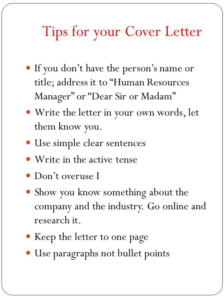 Writing a Cover Letter. Every time you send a resume to an ...