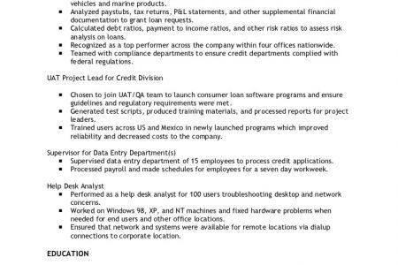 underwriting analyst underwriting amp credit analyst resume
