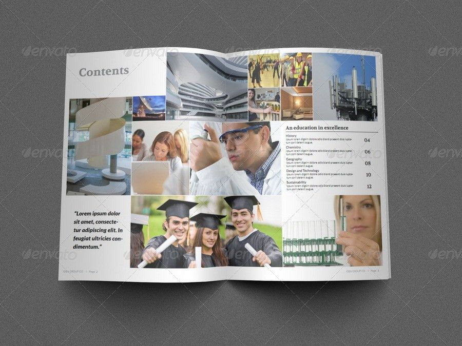 Education Brochure Template - 16 Pages by OWPictures   GraphicRiver