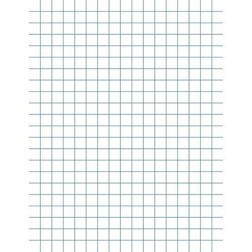 """School Smart Double Sided Graph Paper with Chipboard Back, 8.5"""" x ..."""