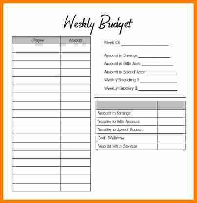 6+ weekly budget template | budget template