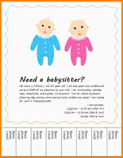 9+ babysitter flyer | nypd resume