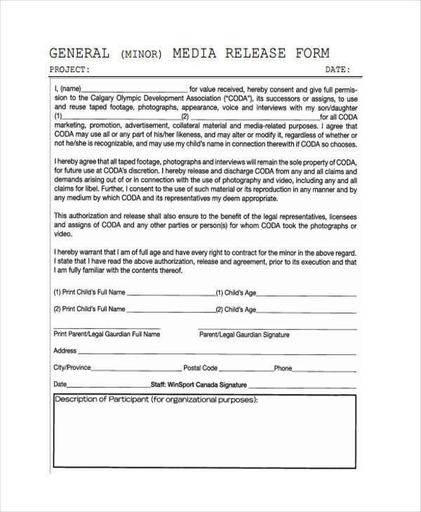 General Liability Waiver Form] General Liability Release Of Claims ...