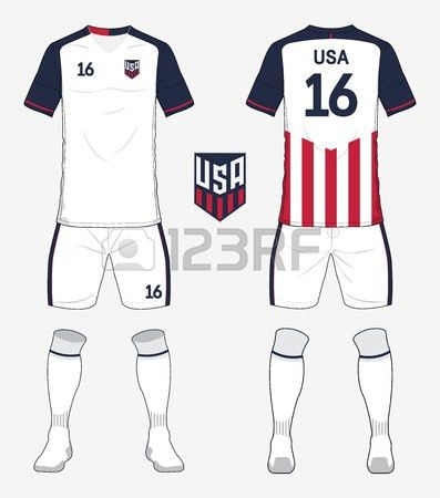 Set Of United States Of America Soccer Kit Or Football Jersey ...
